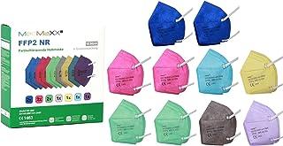 MedMaXX 10x FFP2 NR Atemschutzmaske Größe XS, passend für schmale Gesichtsformen, bunt