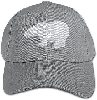 Elephant AN White-polar-bear-transparent-clip-art-image Pure Color Baseball Cap Cotton Adjustable Kid Boys Girls Hat
