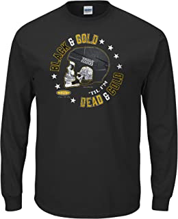 Boston Hockey Fans. Black & Gold Until I'm Dead and Cold. Black T-Shirt (Sm-5X)