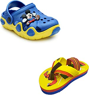 BOOMER CUBS Unisex-Baby's Clogs (Set of 2 Pairs)