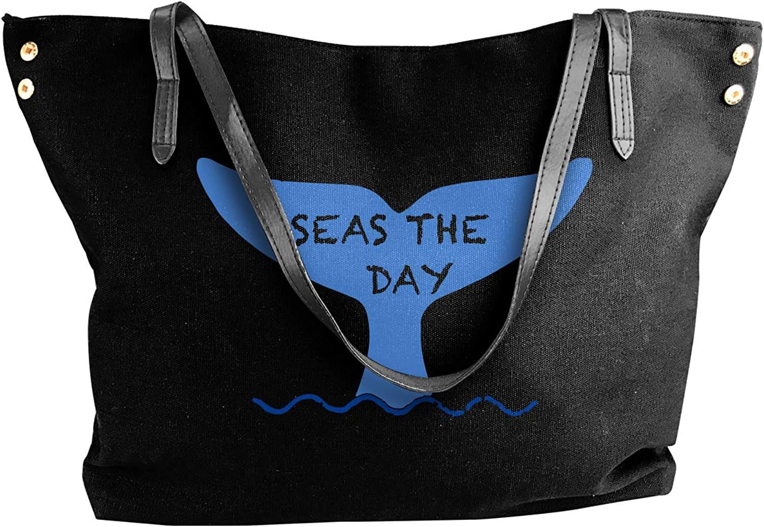 Seas The Day Boat Women'S Leisure Canvas Sling Bag For Travel Big Shopping Bag