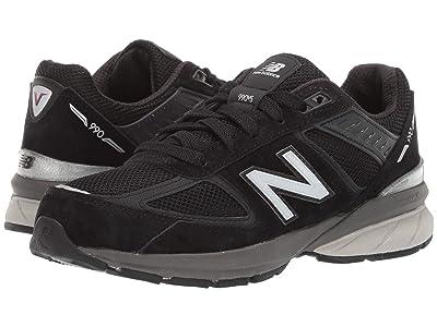 New Balance Kids 990v5 Launch (Big Kid) (Black) Kids Shoes