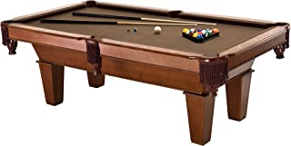 Fat Cat Frisco 7.5' Pool Table with Classic Style Billiard Pockets and Contemporary Straight Legs, Oak Finish with Bronze ...