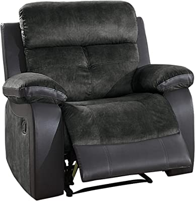 Homelegance Manual Reclining Chair, Gray Two-Tone
