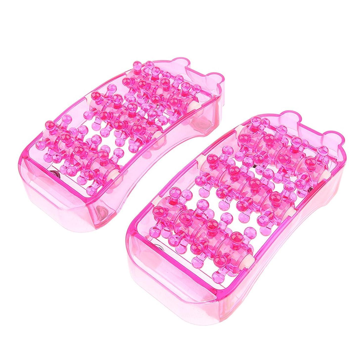 白い採用するロゴIPOTCH 2個 足マッサージ マッサージローラー フットケア マッサージローラー トリガーマッサージ ポイントマッサージ 全3色 - ピンク
