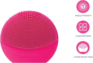 FOREO LUNA Play Plus, Portable Facial Cleansing Brush,  Fuchsia, Replaceable Battery and Waterproof Skin Care Device F3445