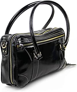 Fluterscooter Clarinet Bag: Black Patent Leather (5)