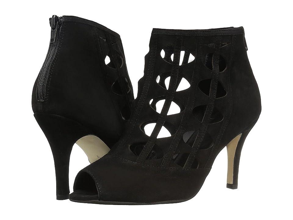 Vaneli Petal (Black Suede) High Heels