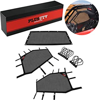 UTV Window Net Shield Protective Net Roll Cage Mesh Guard Net for Polaris RZR PRO XP 2Seat 2020 2021 -3Pcs/Set (Front and Rear Window Shade Net)