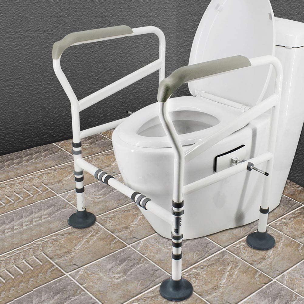 Heavy Bathroom Toilet Safety Rail for Disable with Upgrade Large Non-Slip Mat