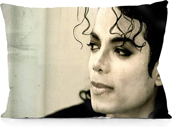 DoubleUSA Michael Jackson Pillowcases Two Sides Print Zipper Pillow Covers 20 X30