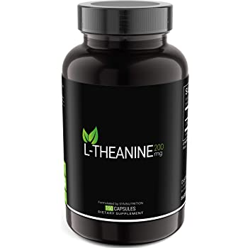 L-Theanine 200mg — 150 Count (V-Capsules) / 150 Servings: Manufactured in a cGMP-Registered Facility in USA; Non-GMO, Vegan & Gluten Free