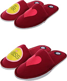 SQUETCH MR & Miss Love Combo Home Slippers