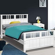 Artiss Single Bed Frame Wooden White