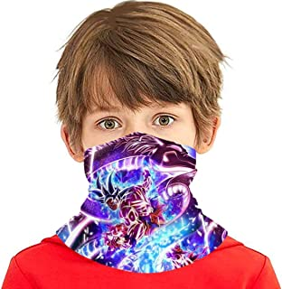 Goku Super Shenron Ultra Instinct Seamless Face Cover Headband Scarf Tube Bandanas for Youth Boys/Girls