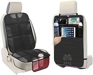 protector silla coche asiento Amaso 2pcs protector asiento coche silla bebe de organizador asiento trasero delanteros con bolsillo para soportar tablet en coche