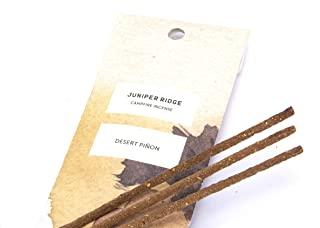 Juniper Ridge All-Natural Aromatic Campfire Incense - Long-Lasting Bamboo Sticks - Aromatherapy & Meditation Therapy - No Synthetic Fragrance - Desert Pinon - 20 Count