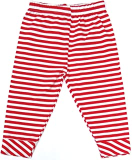 Veronica Pyjama for Baby Girls Red White Stripes