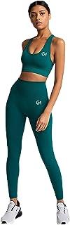 Gym Motivation Women's 2 Pieces Yoga Set | Sports Crop Top Seamless Butt Lift Workout Leggings | 4 Way Stretch Yoga Set