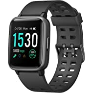 "Smart Watch, Fitness Tracker with Heart Rate Monitor, Activity Tracker with 1.3"" Touch Screen,..."