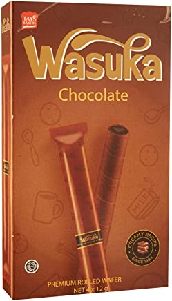 Wasuka Rolled Wafer, Chocolate,  48 g