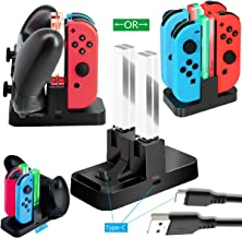 Whiteoak Switch Pro Controller Charger for Nintendo Switch Joy-Con Charging Dock Station Stand...