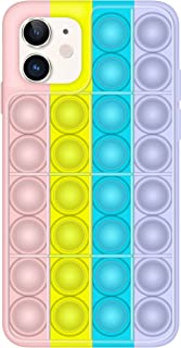 Mehrlieben Push Pop Fidget Phone Case, Pop Fidget Reliver Stress Toys Silicone Bubble Sensory Fidget Toy, Silicone Shockpr...