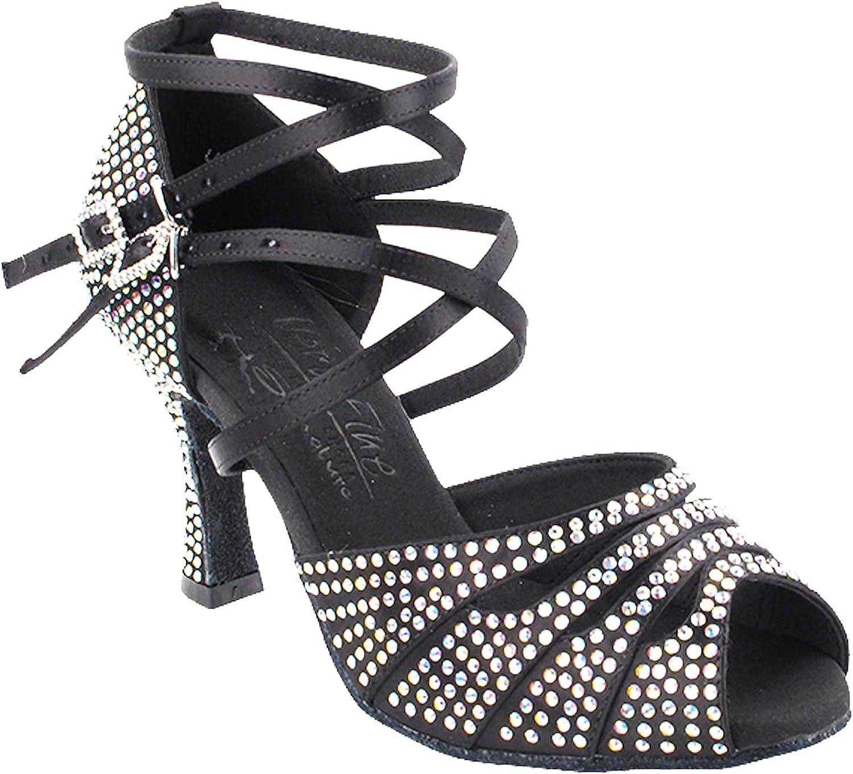 Women's Ballroom Dance Shoes Tango Wedding Salsa Shoes S1007CCEB Comfortable Very Fine 3