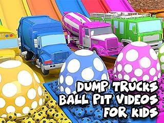 Dump Trucks - Ball Pit Videos for Kids