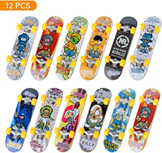 TIME4DEALS Mini Fingerboards Finger Skateboard Toy, 12 PCS Creative Fingertips Movement Party Favors Novelty Toys for Kids Party