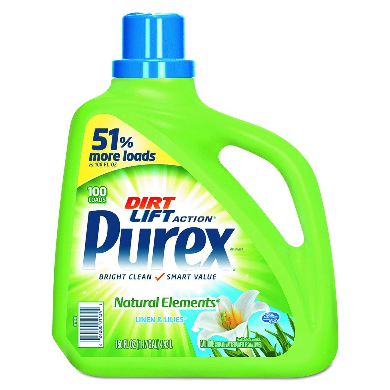 Purex Natural Elements Liquid Detergent Linen Lilies Max 90% OFF Import and 4 150oz