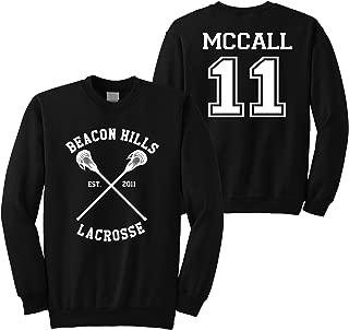 Superior Apparel McCall 11 Lacrosse Beacon Hills Adult Crewneck Sweatshirt
