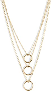 Lucky Brand Link Loop Chain Layer Necklace, Gold