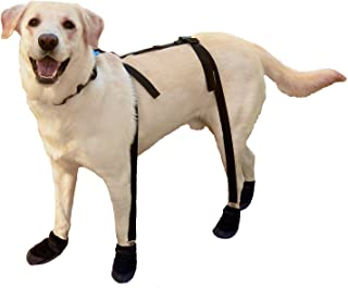 Canine Footwear Suspenders Snuggy Boots for Dog, Small, Black