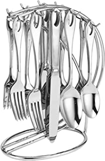 Supreme 20-Piece Stainless Steel Flatware Set with 9