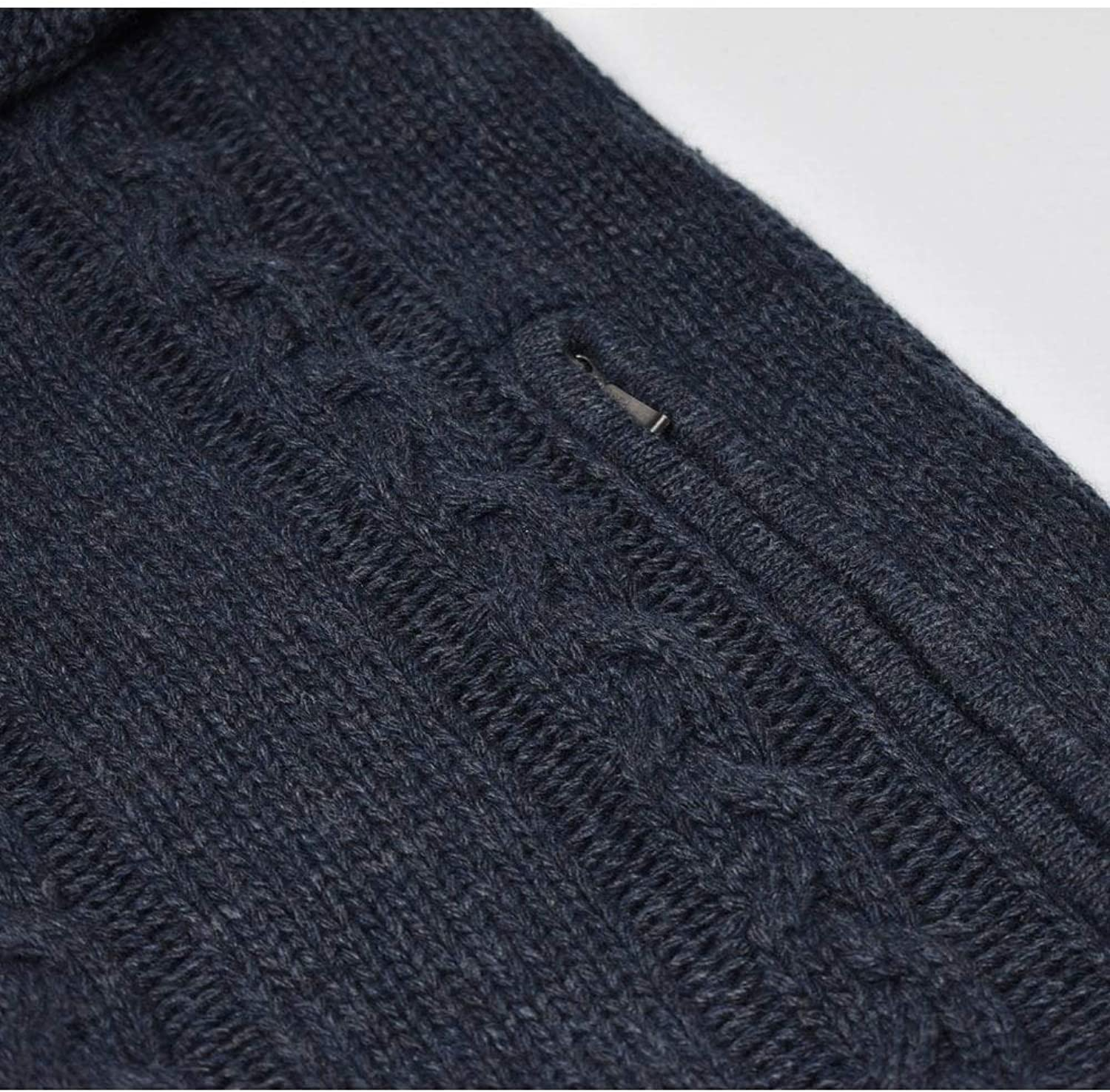 Lyle and Scott Zip Through Cardigan in Cable Knit