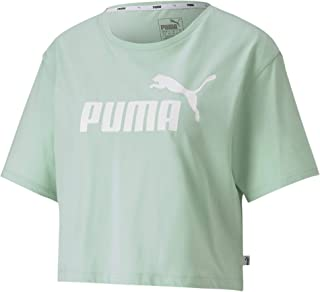 Puma Women's Essentials + ped Tee Crop Top, Green (Mist Green 84), Large