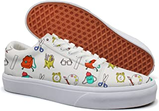 KKLDFD Stationery Box Office Supplies Business Paper Women's Canvas Low-top Slip Shoes Classic White