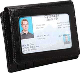 Royce Leather Men's Saffiano Cowhide Money Clip ID Wallet