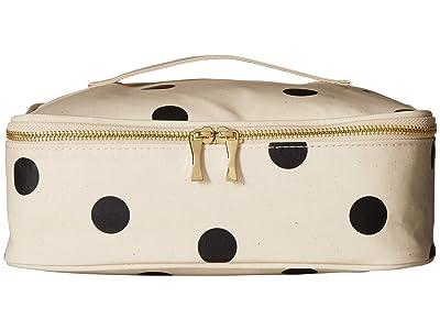 Kate Spade New York Deco Dot Lunch Carrier (Black/Cream) Handbags