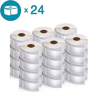 DYMO LW 邮寄地址标签 标签 标签打印机,白色,1-1/8 英寸 x 3-1/2 英寸,2 卷 260 (30572) Multi-Purpose Labels 24 Rolls of 500