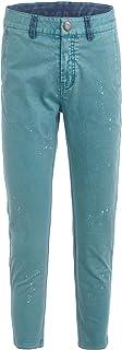 GULLIVER Pantalones para niño, color verde, rectos, 8-13 años, 134-164 cm