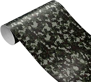 Queenbox 30cm100cm Camouflage Vinyl PVC Car Sticker Wrap Film, Cool Army Camo Car Auto Body Decals Sticker For Auto Motorcycle