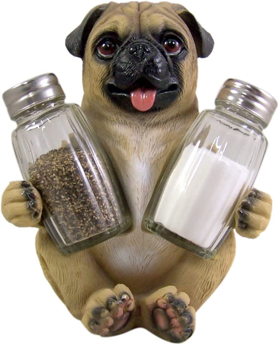 4. Peppery Pug Salt and Pepper Shaker Holder