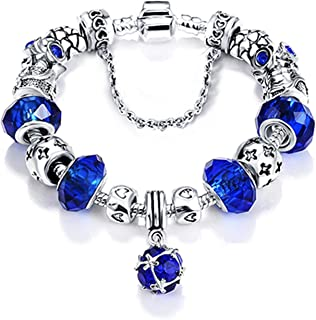 Bottom Price 2 Weeks Antique Silver Original Women Glass Charm Bracelet & Bangle Fit Charm Bracelet