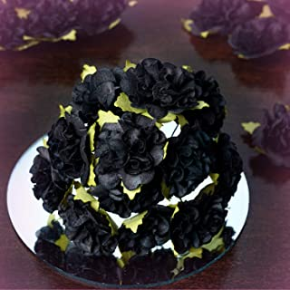 """Inna-Wholesale Art Crafts New 72 pcs Black Craft 1.25"""" Wide Carnations Party Decorating Flowers Supplies Sale - Perfect for Any Wedding, Special Occasion or Home Office D?cor"""
