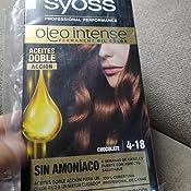 Syoss Oleo Intense - Tono 1-10 Negro Intenso (Pack De 3) – Coloración permanente sin amoníaco – Resultados de peluquería – Cobertura profesional de ...
