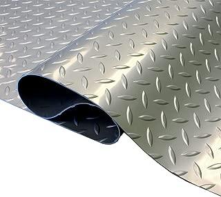 8' x 40' Diamond Nitro Roll - Diamond Pattern Garage Matting Trailer Flooring | Stainless Steel