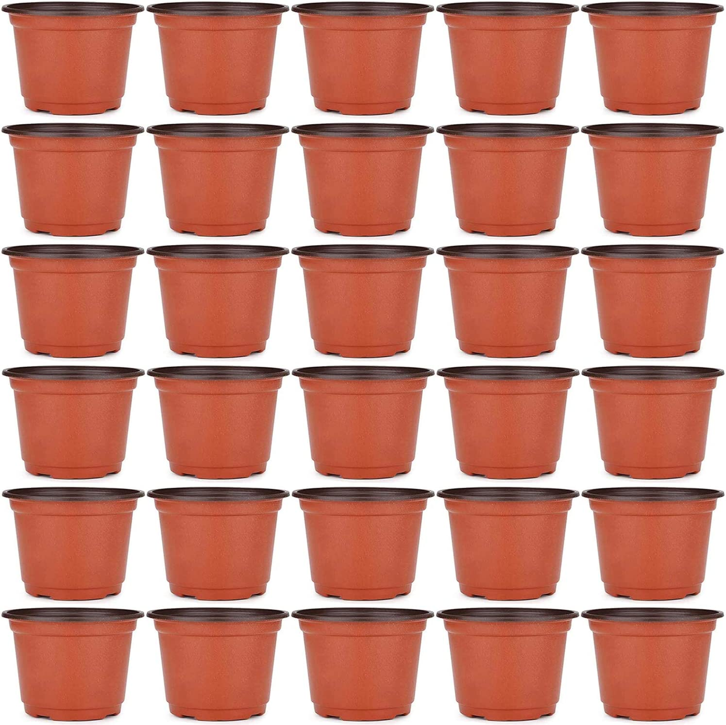 Hulless 4 Inch Plastic Plant Nursery Pots, Seed Starting Pot, Flower Plant Container for Succulents, Seedlings, Cuttings, Transplanting, 60 Pcs