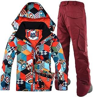 Ski Jacket Pant Snowboard Skiing Suit Windproof Waterproof Super Warm Winter Hooded Clothing Trouser Suit Set